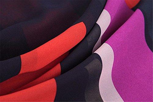 QIYUN.Z Las Mujeres De Rayas Multicolor Verano Batwing De La Manga Corta De La Gasa De Las Camisetas Camisas Rayas De Colores