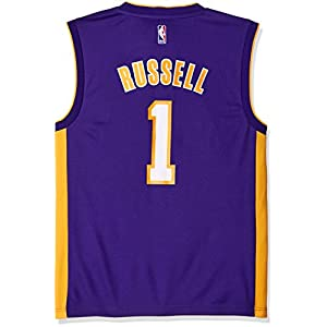 NBA Los Angeles Lakers D'Angelo Russell #1 Men's Road Replica Jersey, X-Large, Purple