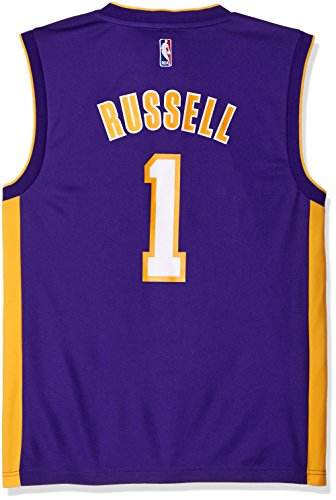 adidas NBA Los Angeles Lakers D'Angelo Russell #1 Men's Road Replica Jersey, X-Large, Purple