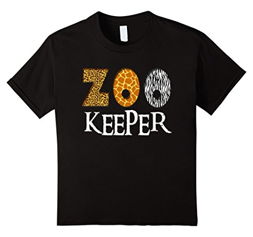 Zoo Print (Kids Zookeeper Shirt | Animal Lover Print & Pattern T-Shirt 8 Black)