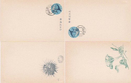 Japan Higgins and Gage 132 5y Stylized Summer Greeting Postal Card Set of two views First Day. Used cancelled to order.