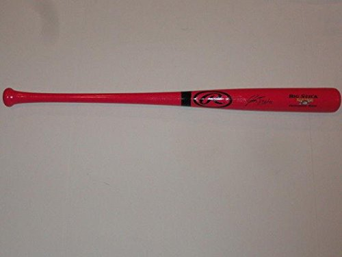 Josh Bell Signed Pink Rawlings Bat Pittsburgh Pirates Mothers Day Proof - Autographed MLB ()
