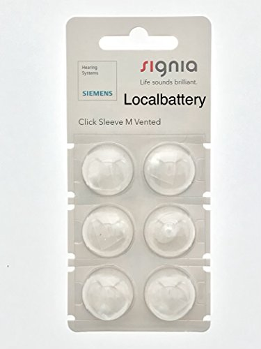 Siemens Signia Click Sleeve, Medium Vented for RIC and SILK Products by Signia, Siemens Hearing Systems