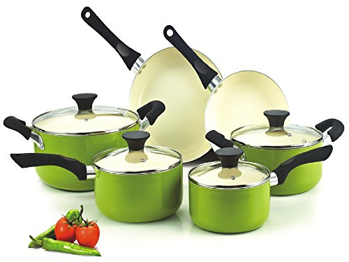 Cook N Home 10-Piece Nonstick Coating Cookware Set Image
