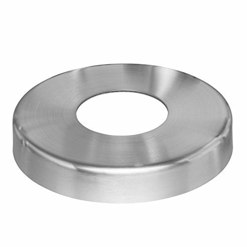 Stainless Steel Base Cover - Stainless Steel Cover Plate for Round Post Floor Flange / Base Anchor on Cable Rail Deck, 316 Marine Grade