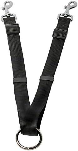 Head Tilt Double Leash Black Leashes