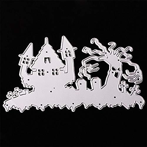 MOKO-PP Happy Halloween Metal Cutting Dies Stencils Scrapbooking Embossing DIY Crafts (D)