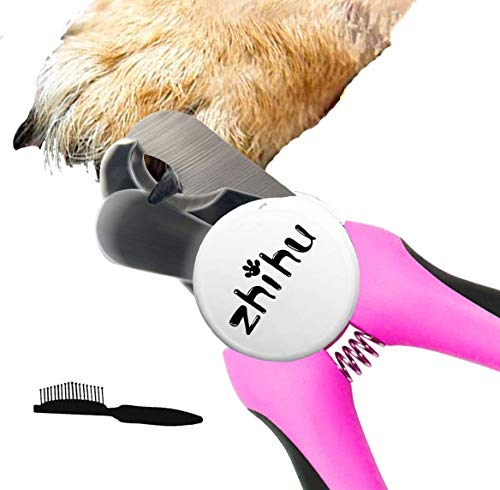 zhihu Pet Dog Nail Clippers and Trimmer with Safety Guard & Free Nail File for Large Dogs Pets