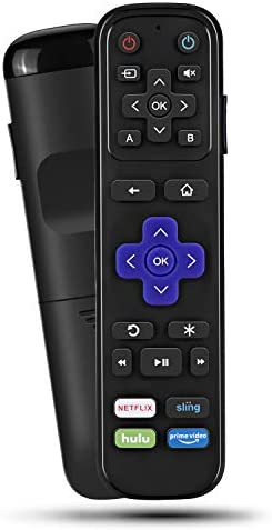 Universal IR Remote Replacement for Roku Streaming Player with 13 Extra Learning Buttons to Control TV Soundbar Receiver All in One (for Roku 1 2 3 4 Premier+ Express+ Ultra,NOT for Roku Stick)