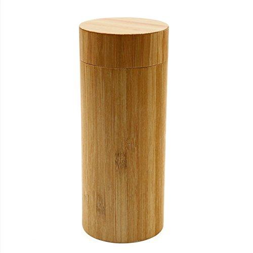Hunulu Fashion Round Men Women Handmade Bamboo Wooden Sunglasses Box Frame Hard Shell Glasses Case