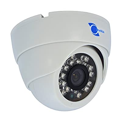 "LineMak IR Dome camera, 1/3"" CMOS Sensor, 800TVL, 3.6mm lens, 23 LEDs, 65ft IR distance, for DVR or surveillance systems."