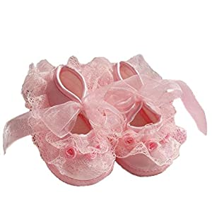 Itaar Cute Non Slip Newborn Shoes Baby Girl Toddler Cloth Shoes With Beautiful Lace