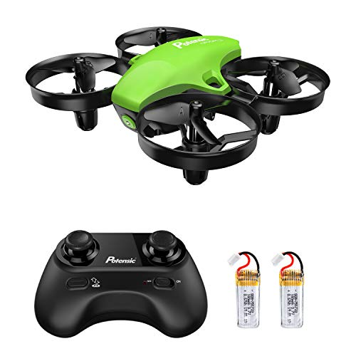 (Potensic Upgraded A20 Mini Drone Easy to Fly Even to Kids and Beginners, RC Helicopter Quadcopter with Auto Hovering, Headless Mode, Extra Batteries and Remote)