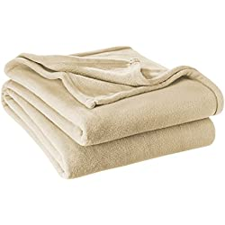 Ivy Union Ultra Soft Microplush Velvet Blanket - Luxurious Fuzzy Fleece Fur - All Season Premium Bed Blanket (Full/Queen, Oyster)