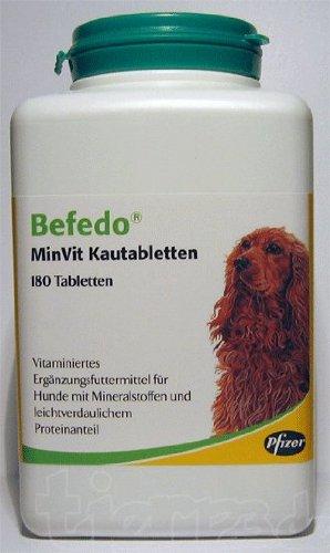 BEFEDO MinVit f.Hunde Kautabl., 180 St