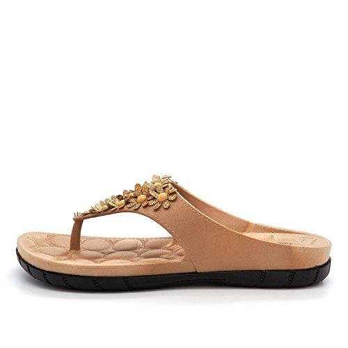 beige Ouvertes Beige à l'arrière femme Footwear London n6WFAqwzF1