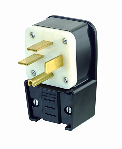 Leviton 8452-P 50 Amp, 250 Volt- 3PY, Straight Blade, Plug, Industrial Grade, Grounding, Angle, ()