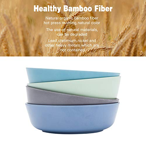 4pcs Bamboo Kids Bowls for Baby Feeding,Non Toxic & Safe Toddler Bowls,Eco-Friendly Tableware for Baby Toddler Kids Bamboo Toddler Dishes & Dinnerware Sets