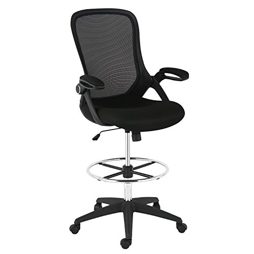 EdgeMod EM-370-BLK Drafting Chair, Black