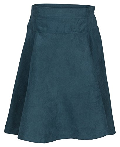 A-Line Teal Green Suede Girl Skirts 33-G13-27A - Size for sale  Delivered anywhere in USA