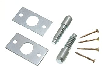 SECURITY HINGE BOLTS BZP STEEL WITH FIXING SCREWS ( 1 Pair )