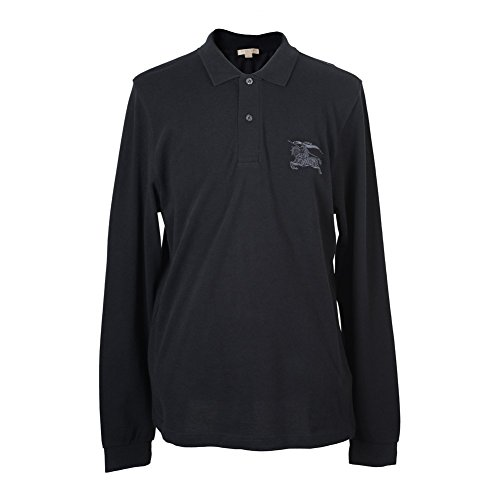 Burberry Brit Men's Black Long Sleeve Polo Shirt US XL EU - Burberry Polo Black