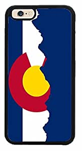 Colorado Flag With Skyline Phone Case Back Cover (iPhone 6 (4.7 inches) - Black Plastic)