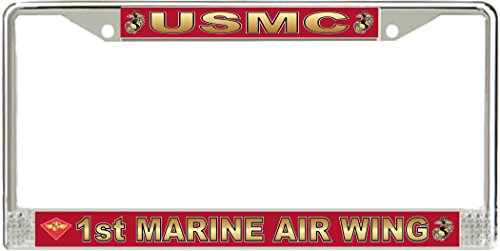 MilitaryBest 1st Marine Air Wing License Plate Frame