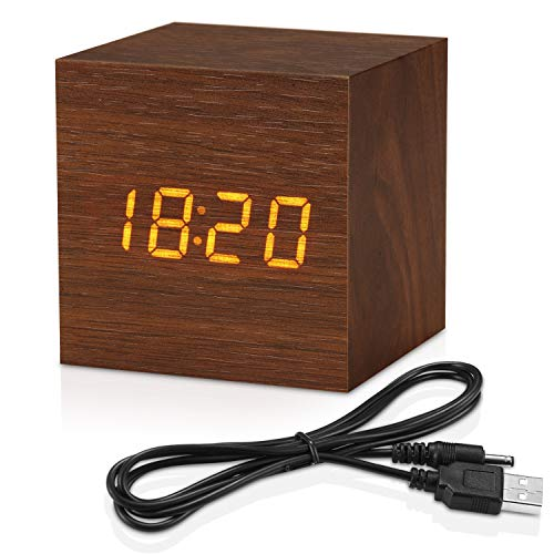 Topacom Wooden Digital Alarm