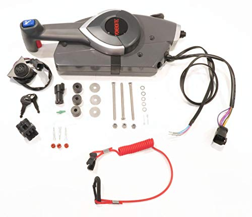 The ROP Shop | Remote Control, Port Starboard Station, for OMC Johnson Evinrude 177224, - Omc Lever