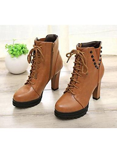 black eu39 eu39 brown PU ZQ cn39 mujer Zapatos de cn39 uk6 Marr¨®n Robusto brown Tac¨®n us8 Tacones us8 eu39 Negro Tacones uk6 cn39 us8 uk6 Casual q8O18U