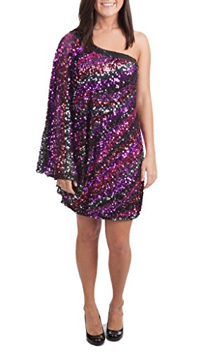 Mac Duggal Couture Sequined Evening Dress, Purple Multi, 4