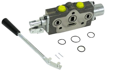 Prince SVW1BA4 Directional Control Valve Work Section , Cast Iron, 1 Spool, 4 Ways, 3 Positions, Single Acting Cylinder Spool, Spring Center, Lever Handle, 3000 psi, 12 gpm, #8 SAE