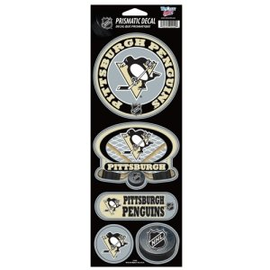 Wincraft Pittsburgh Penguins Decal (NHL Pittsburgh Penguins Prismatic Stickers, Team Color, One Size)