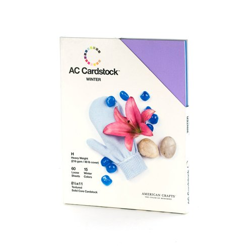American Crafts 8-1/2-Inch by 11-Inch Cardstock Variety Pack, Winter