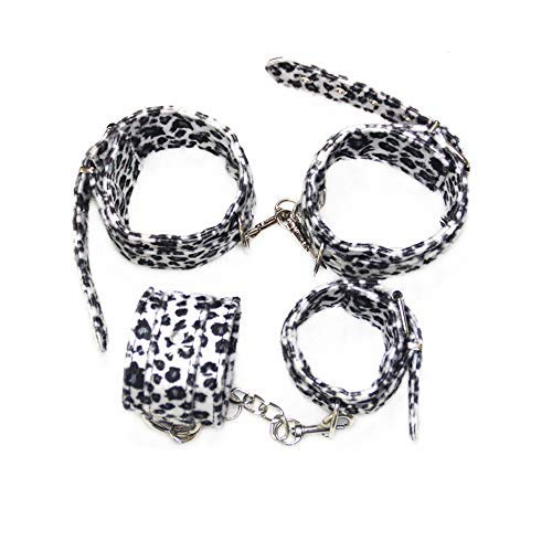 Health Lodge 4 pcs Black&White Leopard Print Leather Kit by Health Lodge (Image #1)