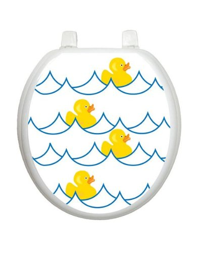 Rubber Ducky White TT-4000-R Round Whimsical Cover (Duck Toilet Seat)