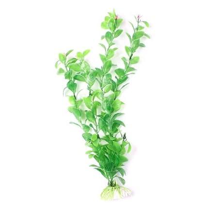 eDealMax hoja de plástico acuario de la decoración de Flor de la planta de hierba,