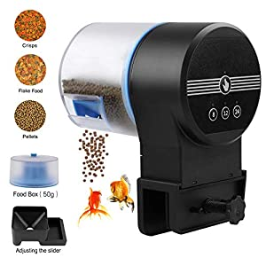 Torlam Auto Fish Feeder, Moisture-Proof Electric Automatic Fish Feeder,Aquarium Tank Timer Feeder Vacation &Weekend 2 Fish Food Dispenser 5