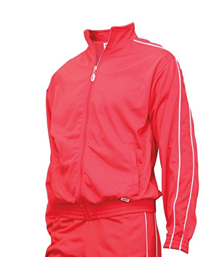 Soffe Junior Warm-Up Jacket, Red, Small
