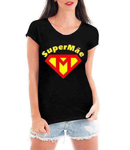 Blusa Criativa Urbana Super Mãe Dia Das Mães T Shirt Preto M