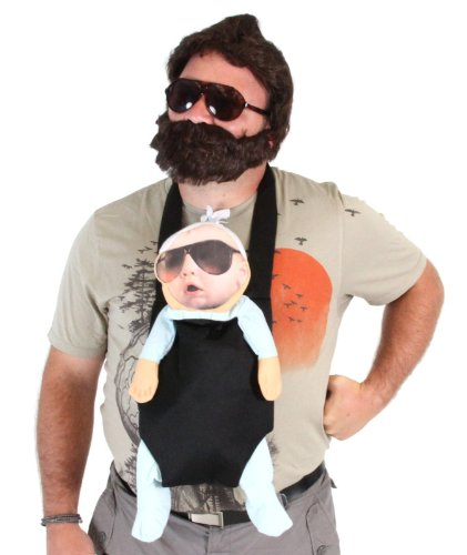 TV Store The Hangover Alan Costume Accessories Set (Baby  Carrier  2 Sunglasses  Beard) -