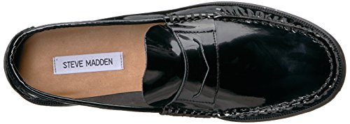 Steve Madden Mens Hugo Loafer Black Patent