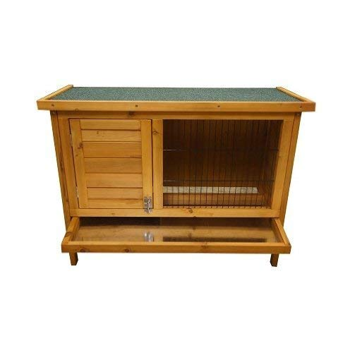 BUNNY BUSINESS Single Rabbit Guinea Pig Pet Hutch House Shelter with Deluxe Hutch Cover, 940 x 470 x 195 mm