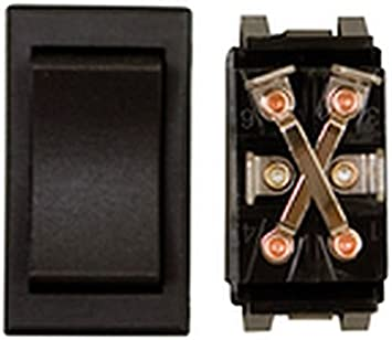 RV Trailer DIAMOND GRP 12V Momentary On Black Slide Out Switch