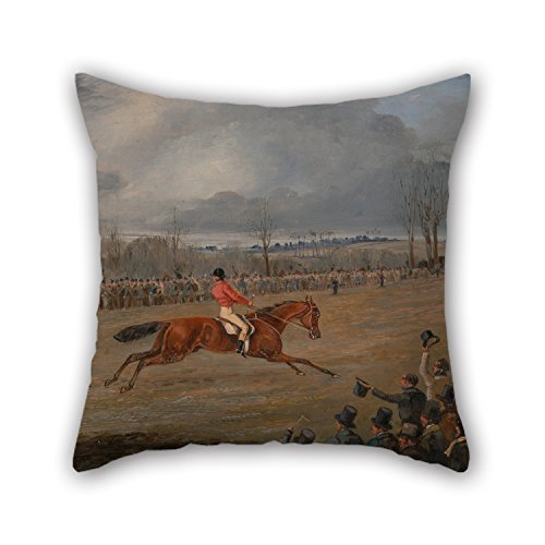 The Oil Painting Henry Thomas Alken - Scenes From A Seeplechase- The Winner Throw Pillow Covers Of 16 X 16 Inches / 40 By 40 Cm Decoration Gift For Bar Seat Gril Friend Boy Friend Floor Wife Gf (b ()