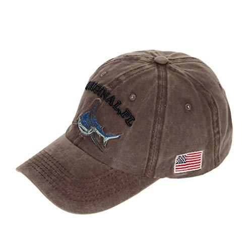 Keepmove Classic Baseball Cap Cotton Embroidery Adjustable Ponytail Trucker Dad Hat-Breathable Eyelets(Khaki)