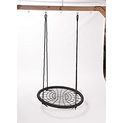 Web Riderz Outdoor Swing N' Spin- Safety rated to 600 lb, 39 inch diameter, Adjustable hanging ropes, Ready to hang and enjoy as a family from M&M Sales Enterprises, Inc