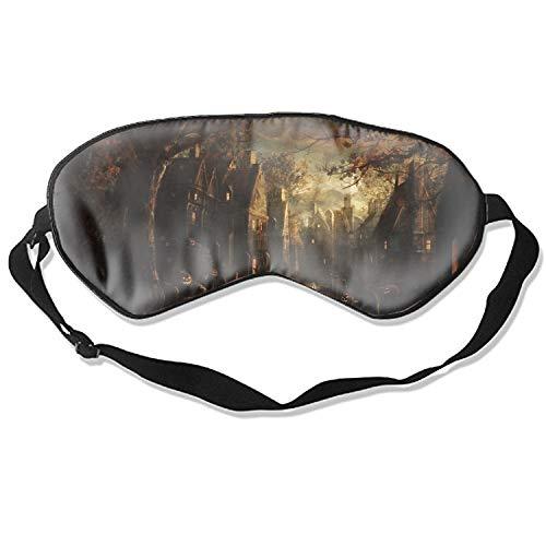 Eye Mask Natural Silk Funny Halloween Tombstones Eye Cover Sleeping Eyeshade ()
