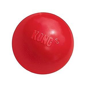 KONG – Ball with Hole – Juguete para Buscar de Caucho Resistente – para Perros Pequeños
